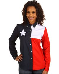 Roper - Texas Pieced Flag Shirt (natural) Women's Clothing - Lyst