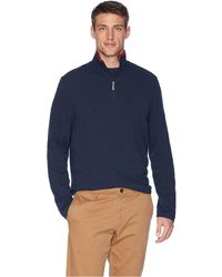 Perry Ellis - Cotton Stretch 1/2 Zip (black) Men's Long Sleeve Pullover - Lyst