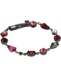 Steve Madden - Faceted Stone Link Bracelet (pink/red/gunmetal-tone) Bracelet - Lyst