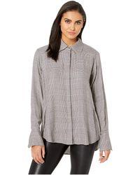 0e9ddeee2fe16d PAIGE - Clemence Shirt (cream Tan ombre Blue) Women s Clothing - Lyst
