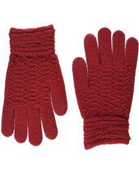 Steve Madden - Lurex Zip Zag Itouch Glove - Lyst