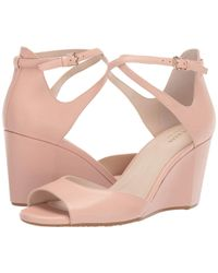 Cole Haan - 75 Mm Sadie Grand Open Toe Wedge Sandal (mahogany Rose Leather) Women's Shoes - Lyst