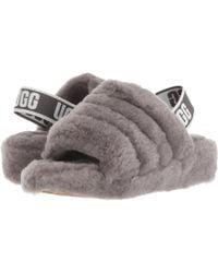 c7254907b40 Lyst - UGG Fluff Yeah Sheepskin Slingback Slippers in Black