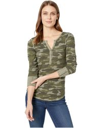 Lucky Brand - Camo Thermal Top - Lyst