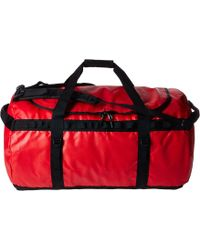 682f21d8d0 Lyst - The North Face Base Camp Duffel M Women's Travel Bag In Red ...