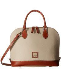 Dooney & Bourke | Pebble Leather New Colors Zip Zip Satchel | Lyst
