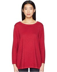 Eileen Fisher - Bateau Neck Tunic (midnight) Women's Long Sleeve Pullover - Lyst