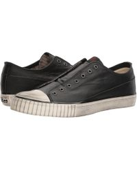 feb7420e6bf3 John Varvatos - Laceless Low Top (stone Grey) Men s Lace Up Casual Shoes -