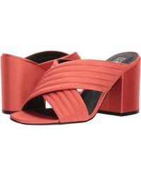 Sol Sana - Elena Mule (flame Satin) Women's 1-2 Inch Heel Shoes - Lyst