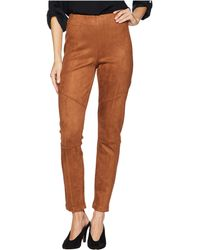 Ivanka Trump - Pull-on Suede Straight Leg Pants (walnut) Women's Clothing - Lyst