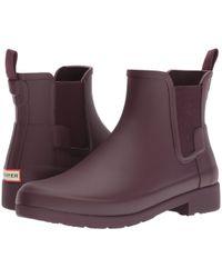 HUNTER - Original Refined Chelsea Boots (black) Women's Boots - Lyst