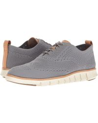 115e4a837078 Cole Haan - Zerogrand Stitchlite Oxford (vapor Grey bluefish) Men s Plain  Toe Shoes