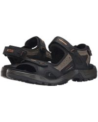 Ecco - Yucatan Sandal (bison/black/black) Men's Toe Open Shoes - Lyst