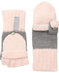 Calvin Klein - Color Block Flip Top Gloves (heathered Almond) Extreme Cold Weather Gloves - Lyst