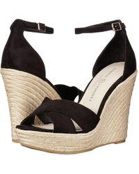 a7990a7761e Chinese Laundry - Morgan (black Microsuede) Women s Wedge Shoes - Lyst