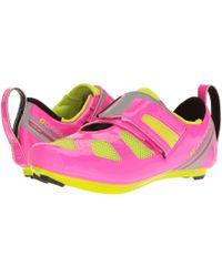 Louis Garneau - Tri X-speed Iii (pink Glow/bright Yellow) Women's Running Shoes - Lyst