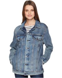 Lucky Brand - Oversized Denim Trucker Jacket (barletta 2) Women's Coat - Lyst