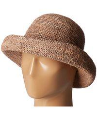 San Diego Hat Company - Rhm6005 Crochet Raffia Pinched Crown Fedora Hat  (nougat) Fedora 5811b0e26568