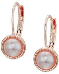 The Sak - Pearl Leverback Earrings (white) Earring - Lyst