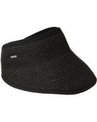 San Diego Hat Company - Ubv043 Sport Visor With A Stretch Band Closure (black) Casual Visor - Lyst