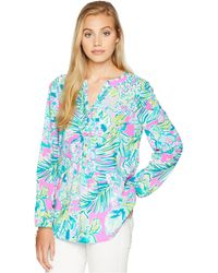 Lilly Pulitzer - Harbour Island Tunic (multi Early Bloomer) Women's Clothing - Lyst