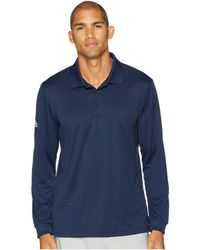 adidas Originals - Performance Long Sleeve Polo (trace Royal) Men's Clothing - Lyst