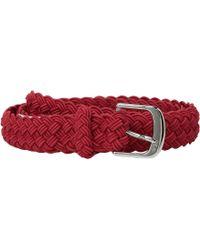 "Lauren by Ralph Lauren - 1 1/4"" Woven Elastic Stretch Belt With Roller Engraved Buckle - Lyst"