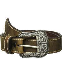 Ariat - Classic With Heavy Stitch Belt (brown) Women's Belts - Lyst