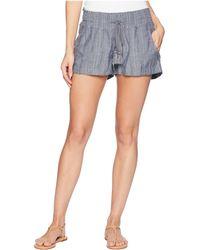 Roxy - Oceanside Yarn-dyed Shorts (dress Blues) Women's Shorts - Lyst