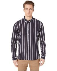 Todd Snyder - Lightweight Button Down Navy Stripe Shirt - Lyst
