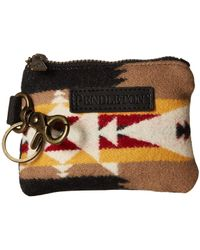 Pendleton - Id Pouch Key Ring (tucson Khaki) Wallet Handbags - Lyst
