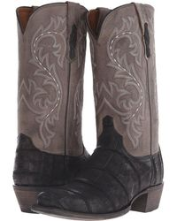 Lucchese - Burke (black Giant Alligator/charcoal) Cowboy Boots - Lyst