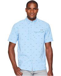 Under Armour - Ua Fish Hunter Short Sleeve Plaid Shirt - Lyst