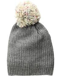 91f5f4d690d Hat Attack - Lightweight Rib Watch Cap With Knit Pom (charcoal rainbow  Multi Pom