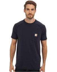 Carhartt - Force(r) Cotton Delmont Short-sleeve T-shirt (carbon Heather) Men's Short Sleeve Pullover - Lyst