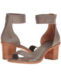 1bbca82a2ecf4 Frye - Brielle Back Zip (charcoal Soft Full Grain) Women s Dress Sandals -  Lyst
