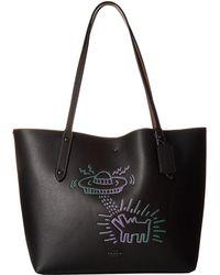 COACH - Keith Haring Market Tote (bp/black/black) Tote Handbags - Lyst
