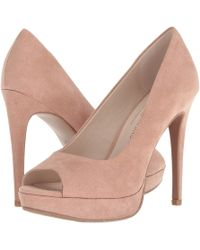 Chinese Laundry - Holliston (dark Nude Microsuede) High Heels - Lyst