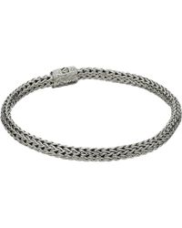 John Hardy - Classic Chain 5mm Bracelet With Diamonds (silver) Bracelet - Lyst