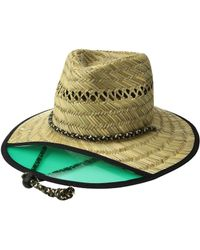 Lyst - San Diego Hat Company Mens Distressed Canvas Fedora in Green ... 8789e3cf8c48