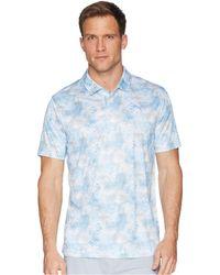 PUMA - Pwrcool Digital Camo Polo (bright White/marina) Men's Short Sleeve Pullover - Lyst