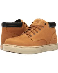 c927d70ac05 Timberland - Disruptor Alloy Safety Toe Eh Chukka (wheat Nubuck) Men s Work  Boots -
