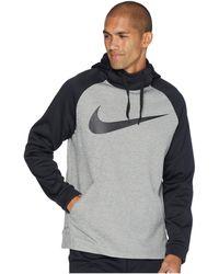 19906d9b4a Nike - Thermal Hoodie Swoosh Essential (thunder Blue light Carbon black)  Men s