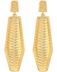 Vince Camuto - Post Drop Linear Earrings (matte Gold) Earring - Lyst