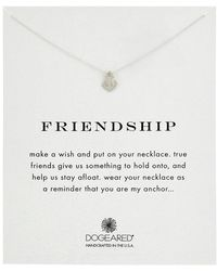Dogeared - Friendship Anchor Reminder Necklace (gold) Necklace - Lyst