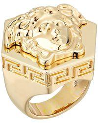 Lyst - Coleoptere Die Schrift Hex Ring in Metallic