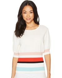 Vince Camuto - Elbow Bubble Sleeve Color Block Waist Sweater - Lyst