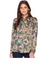 Lauren by Ralph Lauren - Floral-print Button Down Shirt (olive Multi) Women's Clothing - Lyst