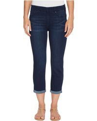 Liverpool Jeans Company - Chloe Rolled Cuff Pull-on Capris In Silky Soft Denim In Griffith Super Dark (griffith Super Dark) Women's Jeans - Lyst