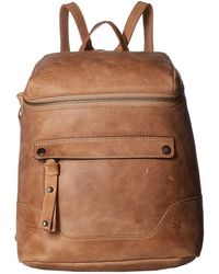 Frye - Melissa Zip Backpack (peacock Antique Pull Up) Backpack Bags - Lyst